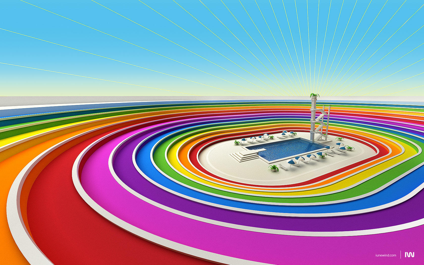 Colored stadium by iuneWind