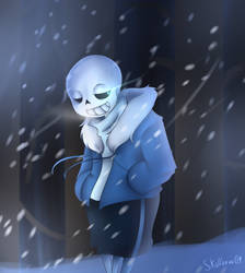 Heavy snow. by Skullbow09
