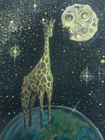 gluttonous giraffe by PaintingCleverly