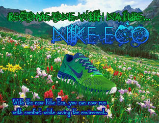 My Nike Eco Shoe Ad from Photoshop Class by LuigiandShadowGirl
