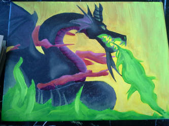 Maleficent painting by twilightwolfqueen409