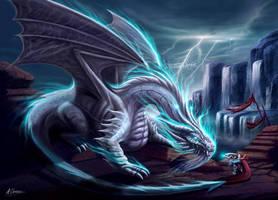 White Lightning Dragon by AnthonyChristou