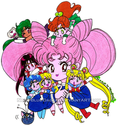 Chibiusa and Friends by Neon-Blue-DaggeR