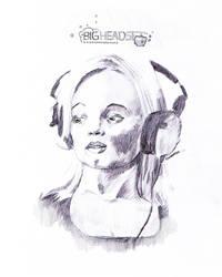 Big headset - Sketch by knutroald