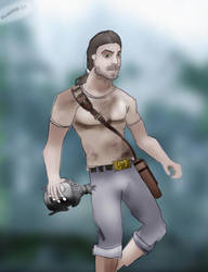 Male Tomb Raider by knutroald