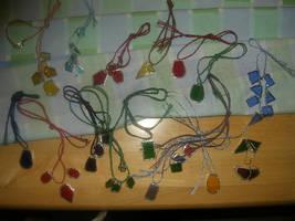 Glasswork necklaces by Riibu