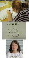 T-shirt drawing by Riibu