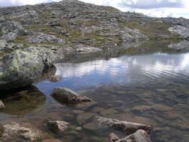 Pond side by Riibu