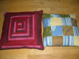 Patchwork Pillows by Riibu