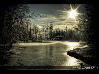 Paysage hivernal by Zazaka