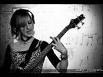 Bass player by Zazaka
