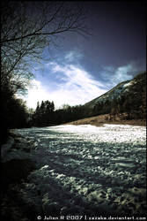 Snow landscape by Zazaka