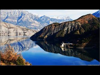 Lac serre-poncon by Zazaka
