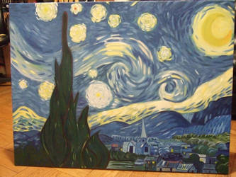 Starry Night Finished by WolfSerenade
