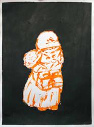 The little orange Smurfette by cybergranny