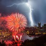 Lightning Fireworks by VampireKetsuki