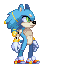 New Sonic Concept Sprite by SpookyLotus
