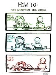 How To Use Chopsticks by Lexidus