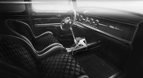 The 79 Coupe - Interior by MikaelLugnegard