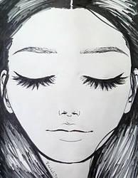 Portrait of June - Marker Outline by LightheartedLoki