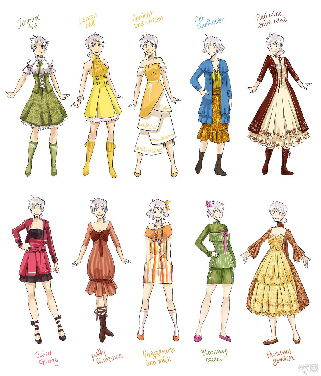 Various female clothes 2 by meago
