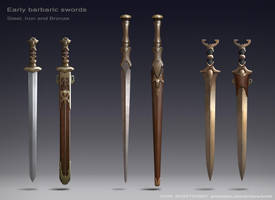 Barbaric swords by Igor-Zhovtovsky