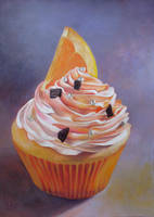 Orange cupcake by diana-0421