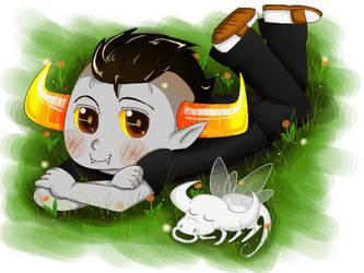 Tav and Tinkerbull by Moegiiro