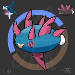 Pokemon Fusion - Sharmuku by CourageousArcanine