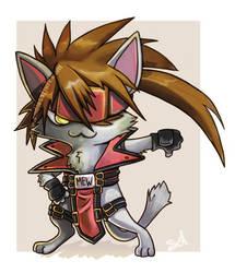 Chibi-kitty solbadguy by mishinsilo