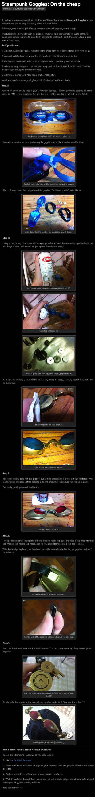 Steampunk Goggles Tutorial by Crimson-Shirou