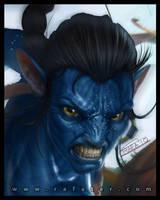 avatar: Jake - face closeup by rafater