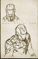 Iron Man sketch 02 by rafater