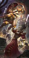 Warhammer - Age of Sigmar - Grimwrath Berzerker by rafater