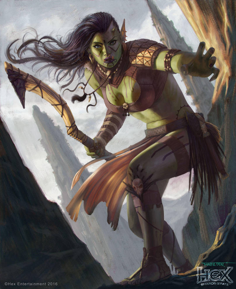 HEX - Orc female Rogue by rafater by rafater