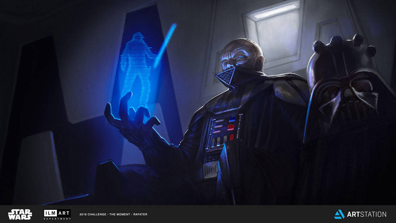 ILM Art Dept. Star Wars challenge 'The Moment' by rafater