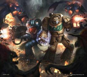 Warhammer 40K: Vox Tenebris cover by rafater