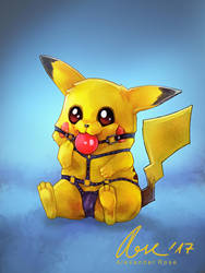 #025 Pikachu by MrBonecracker