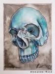 ice skull by MrBonecracker