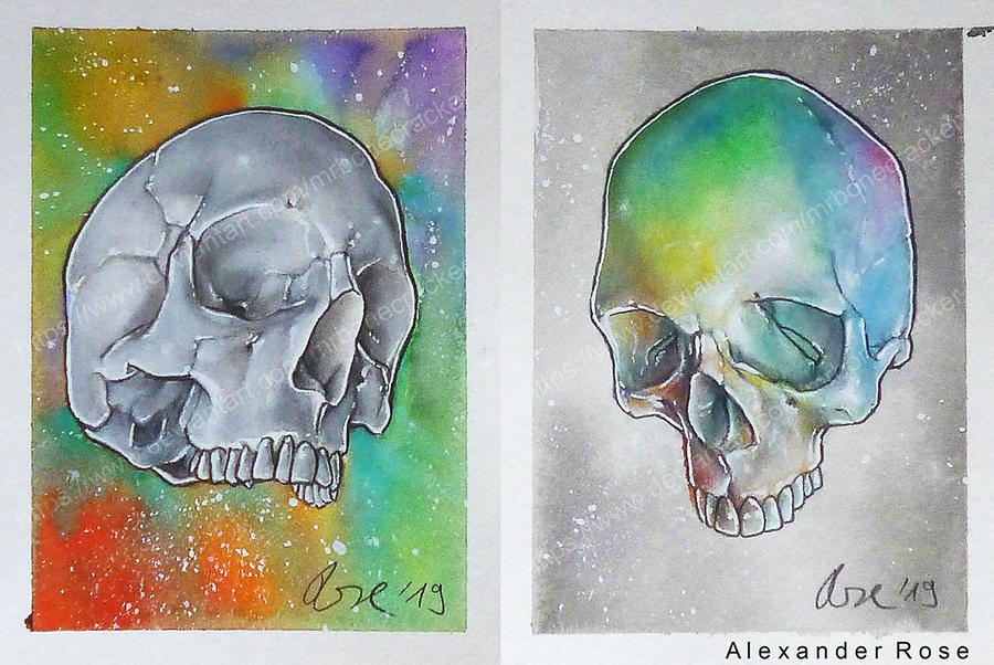 twin skulls by MrBonecracker