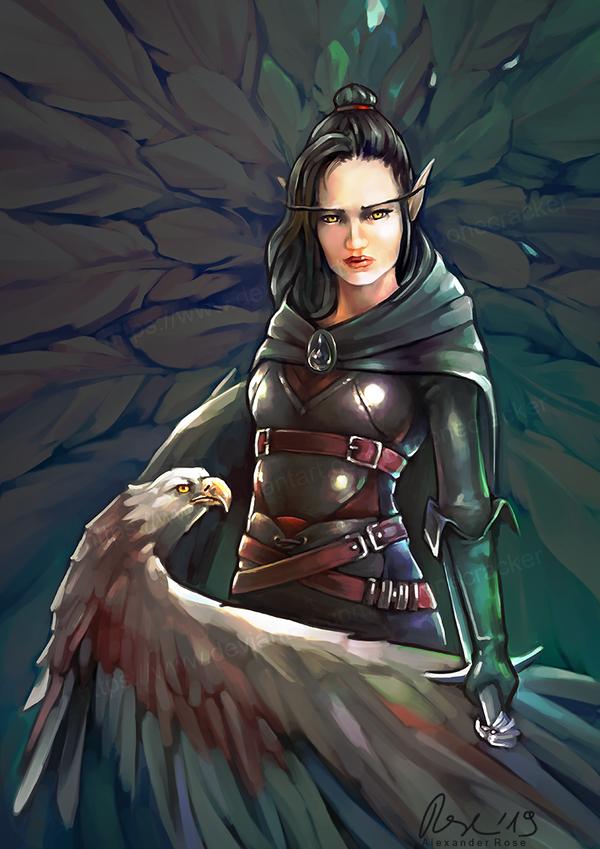 Commission: blood elf OC by MrBonecracker