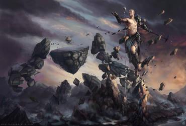 Lodstone/Magnetite - Sorcerer and Golem by LucasParolin
