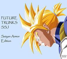[MS Paint] Future Trunks - Saiyan Armor Edition by MiraiWarriorWithin