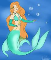 aqua the mermaid by drawz0319