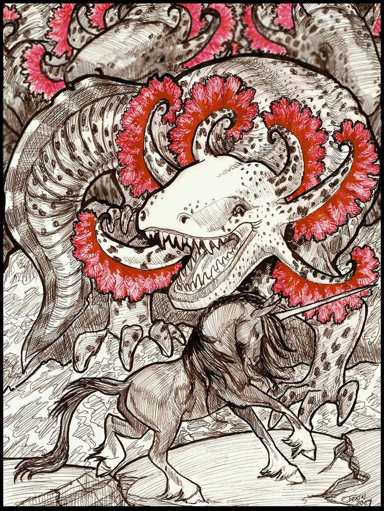 Cave of worms line art by jupiterjenny