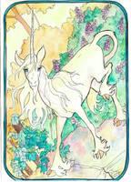 deer like unicorn by jupiterjenny
