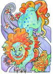 foo dog watercolor by jupiterjenny