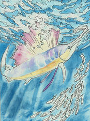 Sailfish watercolor by jupiterjenny