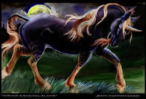 Sirius dancing alone by jupiterjenny
