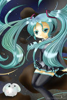 Miku Lost in Space by Namrii